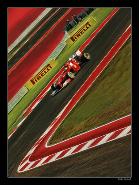 Photograph - Formula One Red Drive by Blake Richards