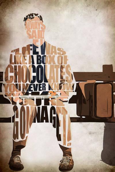 Tom Wall Art - Painting - Forrest Gump - Tom Hanks by Inspirowl Design