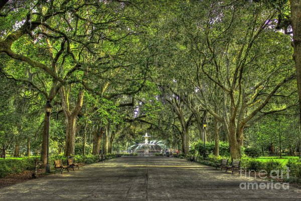 Photograph - Forsyth Park Fountain Savannah by Reid Callaway