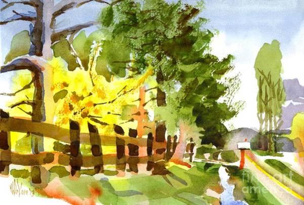 Forsythia Painting - Forsythia In Bloom by Kip DeVore