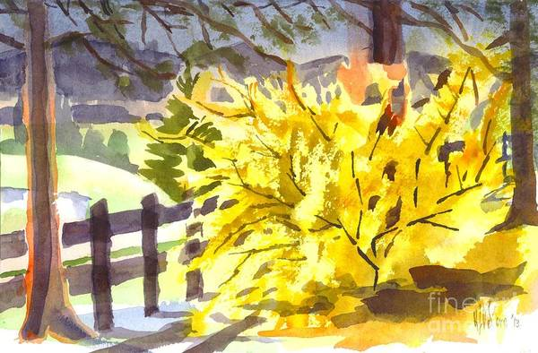 Painting - Forsythia In Springtime by Kip DeVore
