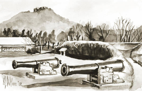 Painting - Fort Davidson Cannon IIi by Kip DeVore