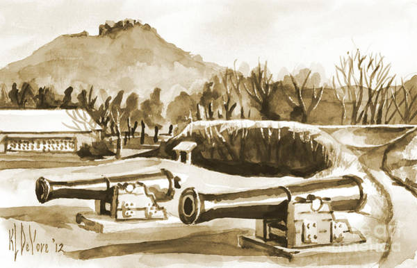 Painting - Fort Davidson Cannon Iv by Kip DeVore