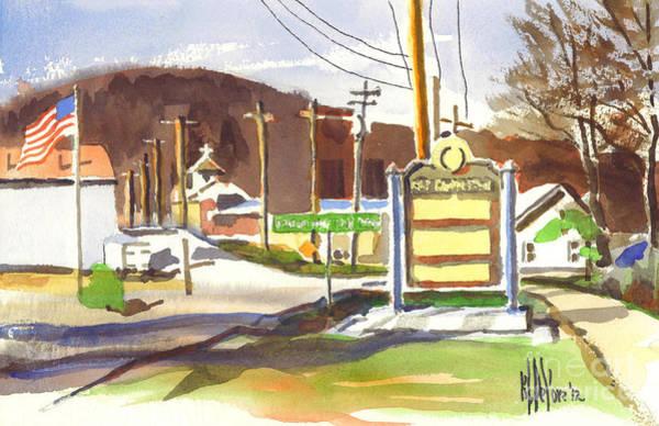 Painting - Fort Davidson Memorial Pilot Knob Missouri by Kip DeVore