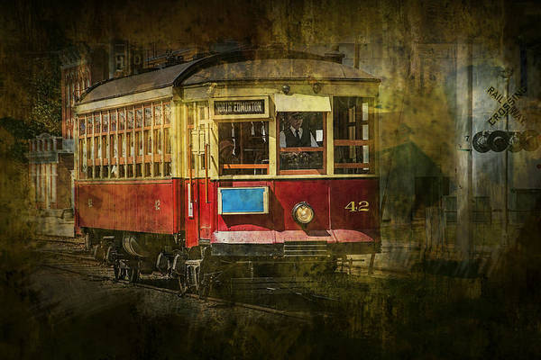 Photograph - Fort Edmonton Museum Trolley Car by Randall Nyhof
