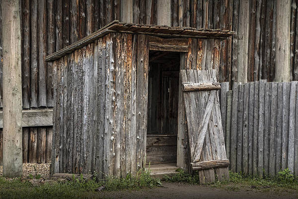 Photograph - Fort Edmonton Park Wooden Outhouse by Randall Nyhof