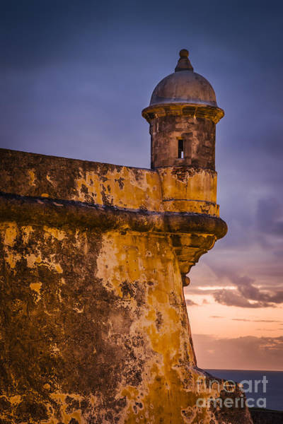 Sentry Box Photograph - Fort El Morro by Brian Jannsen