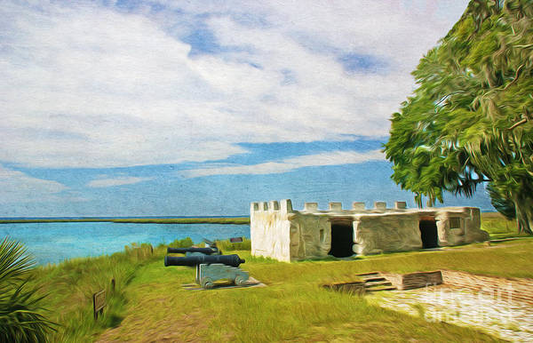 Simon Wall Art - Photograph - Fort Frederica by Laura D Young