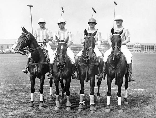 Wall Art - Photograph - Fort Hamilton Polo Team by Underwood Archives