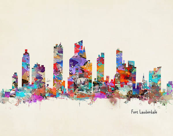 Wall Art - Painting - Fort Lauderdale Florida by Bri Buckley