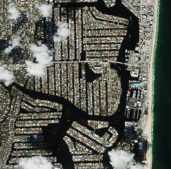 Wall Art - Photograph - Fort Lauderdale by Geoeye/science Photo Library