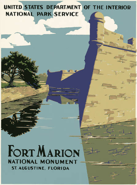 Famous Places Digital Art - Fort Marion National Monument by Georgia Fowler