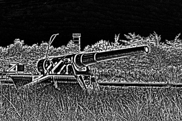 Photograph - Fort Miles 8 Inch Gun Sketch by Bill Swartwout Photography