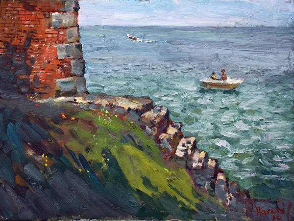 Castles Painting - Fort Niagara By Lake Ontario by Ylli Haruni