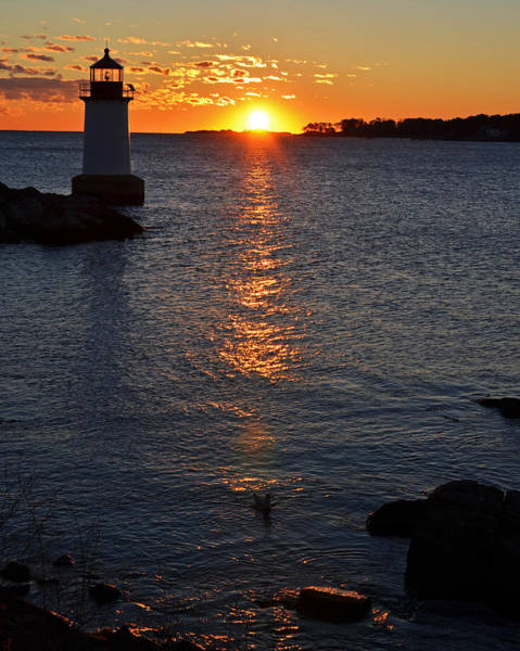 Pickering Photograph - Fort Pickering Lighthouse Winter Island Salem Ma Sunrise by Toby McGuire