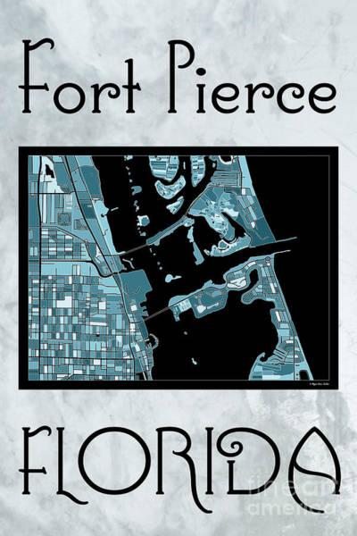 Digital Art - Fort Pierce Map No.4 by Megan Dirsa-DuBois