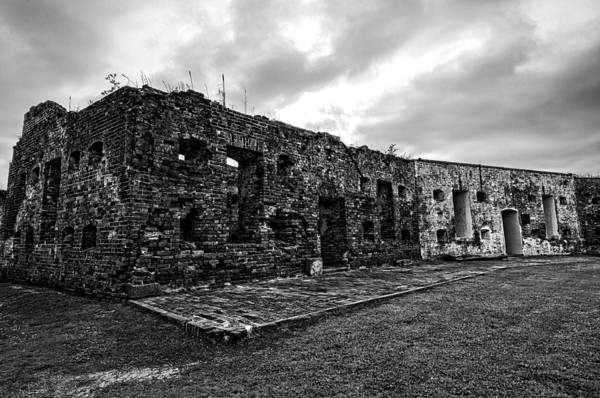 Photograph - Fort Pike In Black And White by Andy Crawford