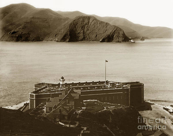 Photograph - Fort Point And The Golden Gate San Francisco Circa 1890 by California Views Archives Mr Pat Hathaway Archives