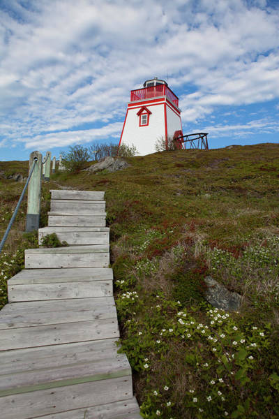 Maritime Provinces Photograph - Fort Point Lighthouse, Trinity by Greg Johnston