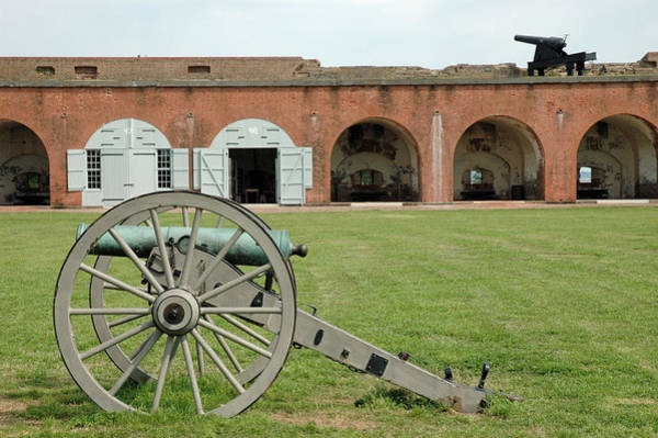 Photograph - Fort Pulaski Cannon And Gun by Bruce Gourley