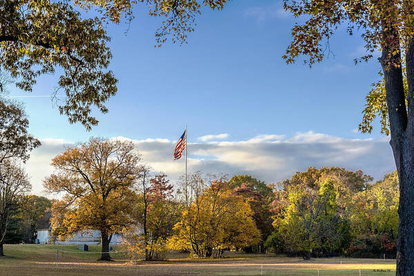 Wall Art - Photograph - Fort Smallwood Park Flagpole by Brian Wallace