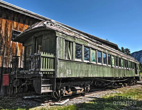 Photograph - Fort Steele Canada - Old Train Car by Gregory Dyer