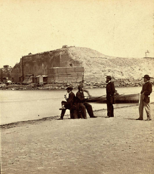 Fort Sumpter Photograph - Fort Sumpter I.e. Sumter From The Bar. Fort Sumter by Litz Collection