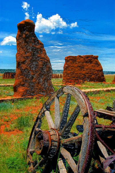 Wall Art - Painting - Fort Union New Mexico by David Lee Thompson