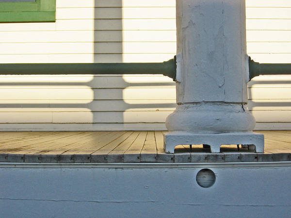 Wall Art - Photograph - Fort Worden Porch by Laurie Stewart