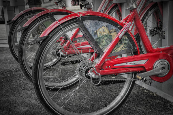 Photograph - Fort Worth Bikes by Joan Carroll