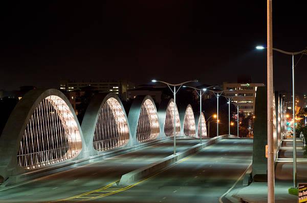 Fort Worth Seventh Street Bridge Oct 10 2014 Art Print