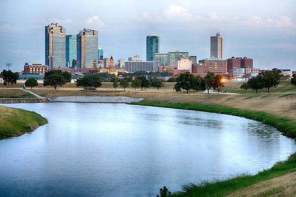 Photograph - Fort Worth Skyline Aug 2014 by Rospotte Photography