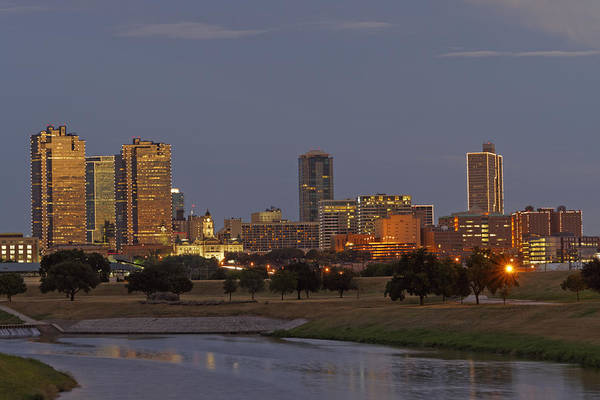 Fort Worth Skyline Golden Hour Art Print