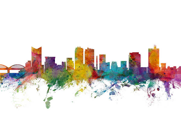 Fort Worth Digital Art - Fort Worth Texas Skyline by Michael Tompsett