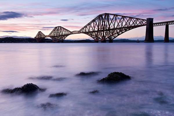 Forth Bridge At Sundown Art Print
