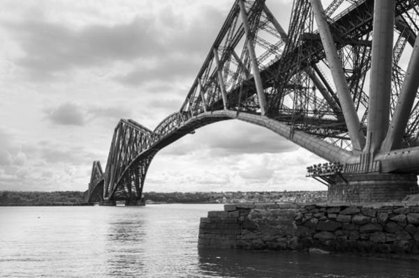 Photograph - Forth Rail Bridge North East View Black And White Version by Gary Eason