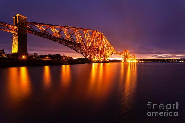 Edinburgh Photograph - Forth Rail Bridge Pre Dawn by John Farnan