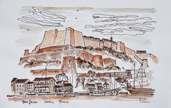 Scotty Wall Art - Photograph - Fortified City Of Bonifacio, Corsica by Richard Lawrence