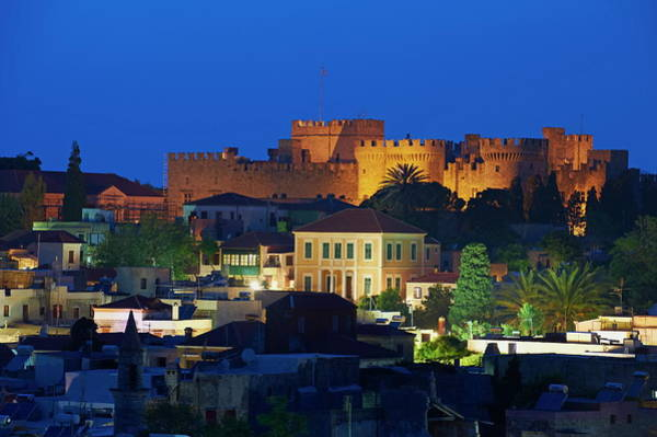 Dodecanese Photograph - Fortress And The Palace Of The Grand by Tuul / Robertharding