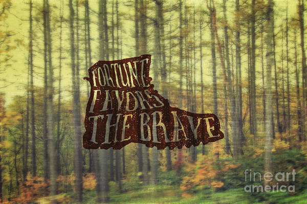 Photograph - Fortune Favors The Brave Hiking Boot In Forest by Beverly Claire Kaiya