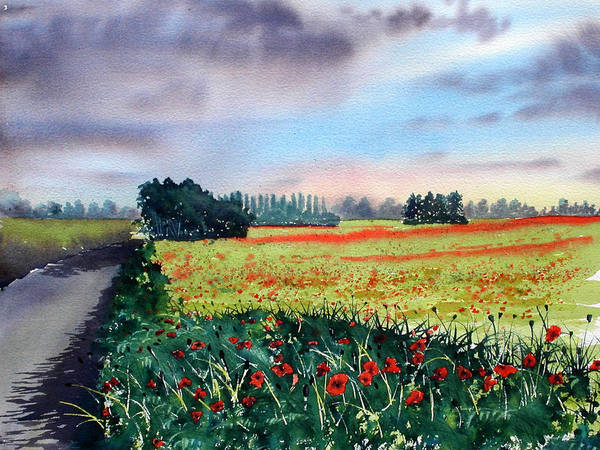 Painting - Forty Acre Field Near Easingwold by Glenn Marshall