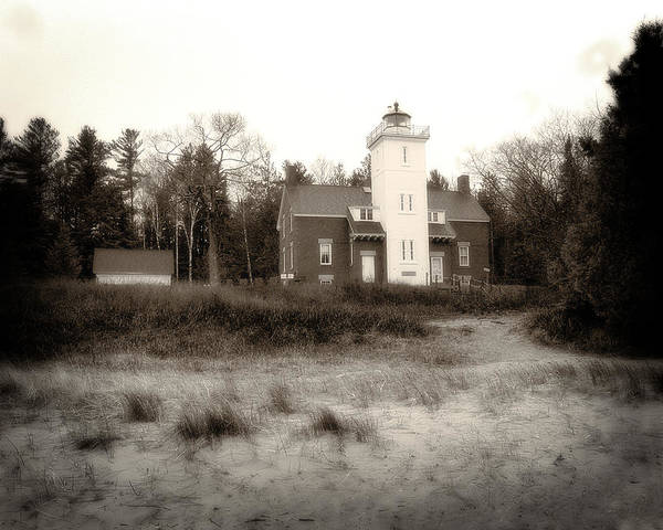 Photograph - Forty Mile Point Light by Scott Hovind