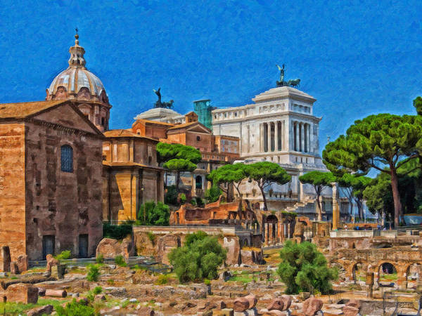 Painting - Forum Romanum Itl3911 by Dean Wittle