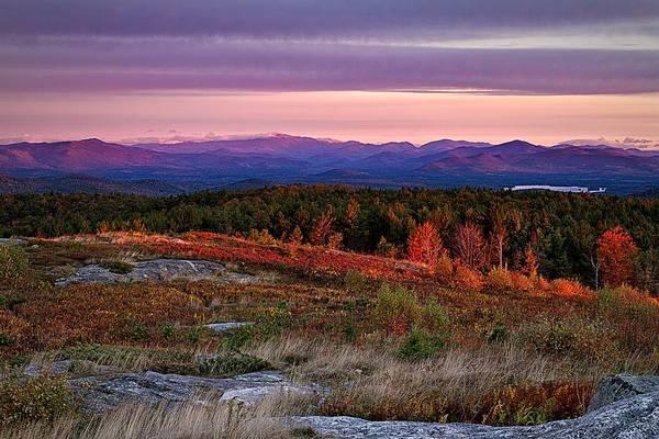Photograph - Foss Mountain Sunrise Eaton Nh by Jeff Sinon