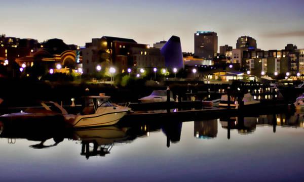 Foss Waterway At Night Art Print