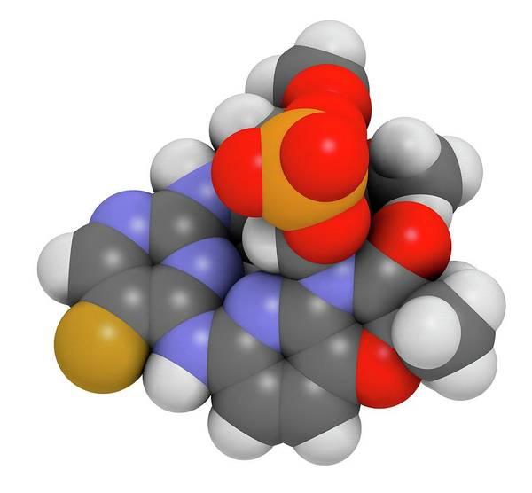 Fostamatinib Arthritis Drug Molecule Art Print