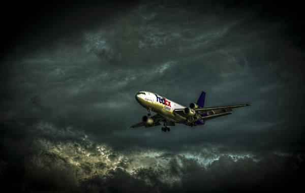 Landing Gear Photograph - Foul Weather Fedex by Marvin Spates