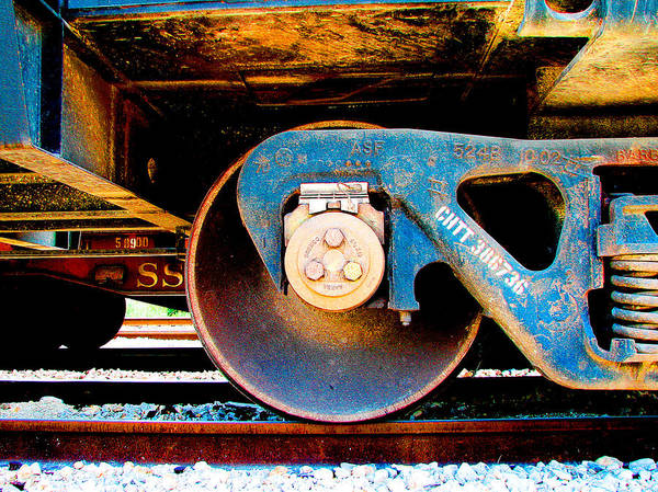 Train Track Photograph - Foundation 2 by Wendy J St Christopher