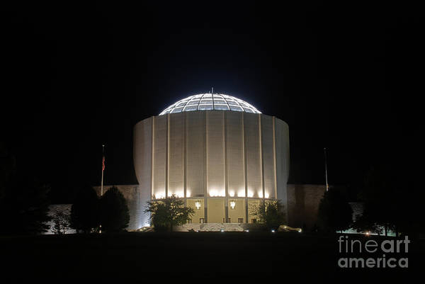 Photograph - Founders Hall At Night by Mark Dodd