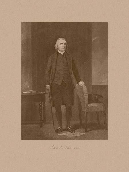 Revolutionary War Mixed Media - Founding Father Samuel Adams by War Is Hell Store